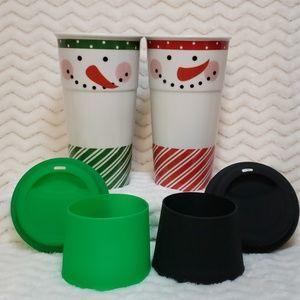 Century Kitchen - Snowman Double Insulated Travel Mug - Set of 2